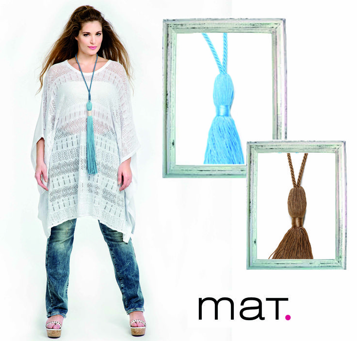 | Necklace Purpose | Add an extra bit of ethnic-chic detail to your look with #matfashion best statement necklaces. #realsize #fashion #mat_summer15 #collection #fringe #handmade #necklace #inspiration #instafashion #ootd