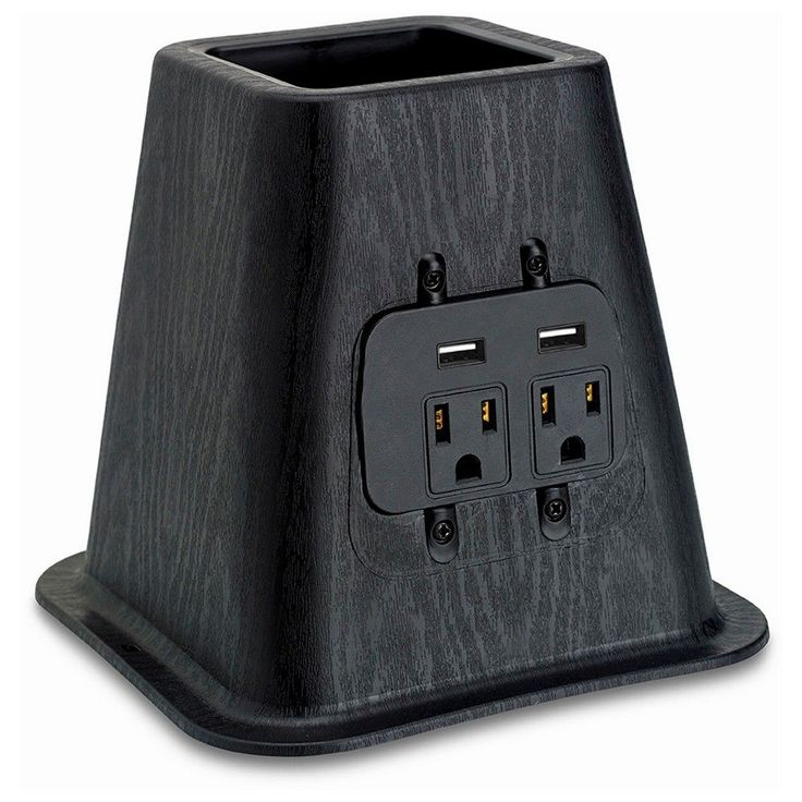 Usb Power Bed Risers - Room Essentials, Black