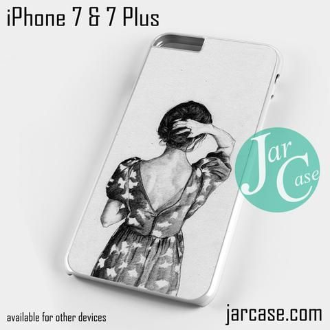 vintage girl YP Phone case for iPhone 7 and 7 Plus
