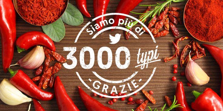 Siamo 3000 su #twitter!! Grazie a tutti, miglioriamo ogni giorno; continueremo a farlo! #followfriday  #FF