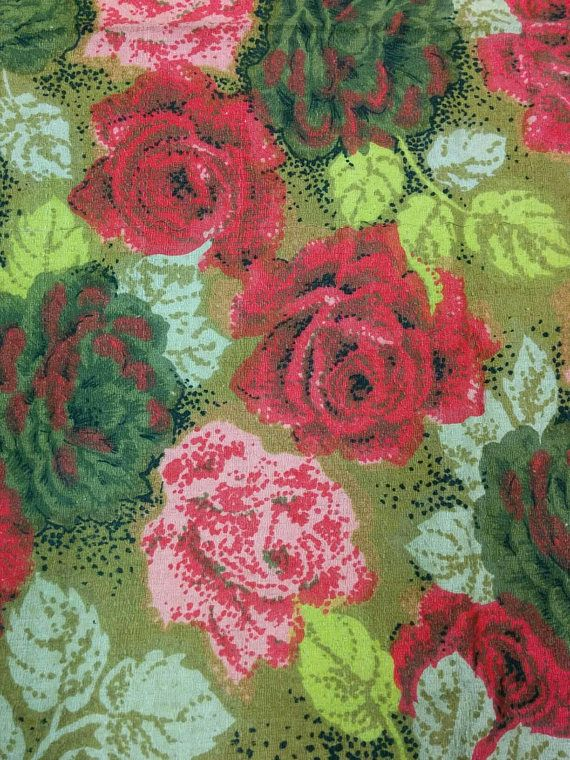 Check out this item in my Etsy shop https://www.etsy.com/listing/591158595/mid-century-rise-pattern-cotton-floral
