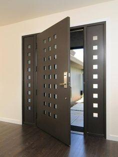 puertas modernas entrada hierro - Buscar con Google
