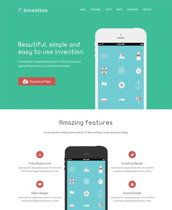 This WordPress theme for promoting apps features a responsive layout, WooCommerce support, lots of shortcodes, a page builder, custom post types, Flickr and Twitter widgets, pricing tables, RTL language support, and more.