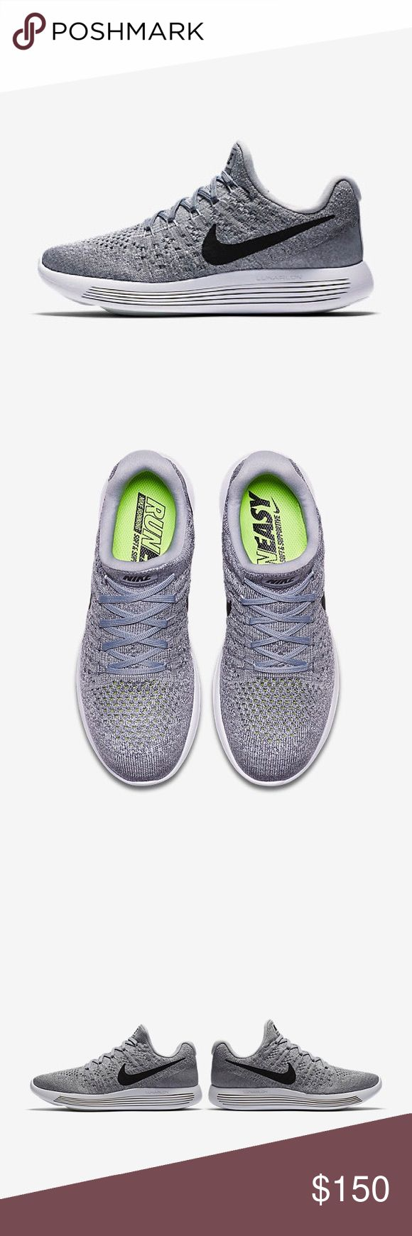Nike LunarEpic Low Flyknit 2 Women's Running Shoes SEAMLESS COMFORT. TARGETED SUPPORT. The Nike LunarEpic Low Flyknit 2 Women's Running Shoe improves on its predecessor with an updated slip-on design for a snug, seamless fit. The same luxurious cushioning and targeted support remain to help you tackle your longest distances. Color: Wolf Grey/Cool Grey/Pure Platinum/Black Size: 7.  Condition: Brand new Nike Shoes Sneakers