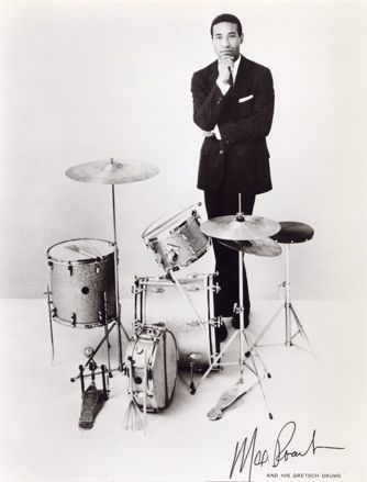 Max Roach, 1924-2007, American, jazz percussionist, drummer,  composer, and is considered a pioneer of bebop.