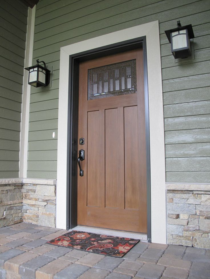 Exterior Doors A Fiberglass Wood Textured Door With A Beautiful Designer Glass To Catch The