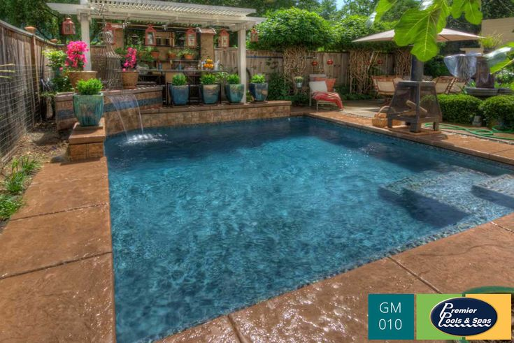 The steps into the pool illustrate the aesthetics that for Pool design new orleans