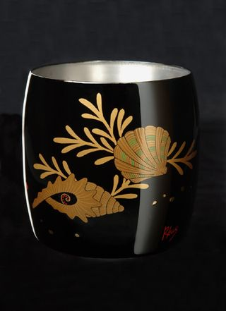 Titanium Japanese Lacquer Cup by Rhus  (Ocean Floor) featured on Jzool.com