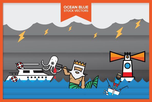 Ocean Blue: Jackkrit Anantakul, Fashion Graphics, Ocean Blue, Stockings Art