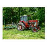 Old International Tractor Postcard