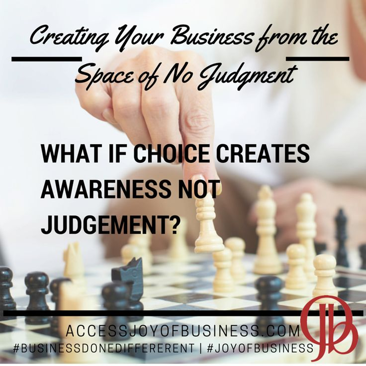 What could you create if you created your business from the space of no judgement? #businessdonedifferent