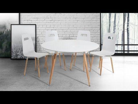 Stół do kuchni biały - 120 cm -  stół  do jadalni lub salonu - BOVIO