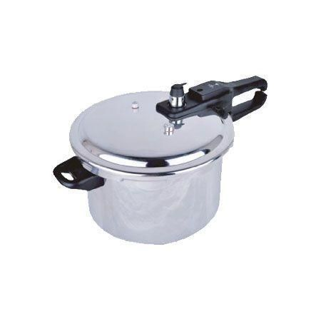 No more waiting hours for dishes to cook. The Brentwood Pressure Cooker cooks almost anything and does it in less than half the time it would take in a regular pot. Speed up your cooking. Tenderize meats or steam veggies quickly. The three safety valves ensure that despite the pressure cookers power, you will be safe using it.  Specs: Durable aluminum body | 3 safety valves | Additional safety valve lock | Dual grip handles | Pressure regulator | Lightweight | 5.5L capacity
