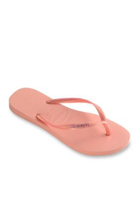 Havaianas Light Pink Slim Logo Metallic Flip Flop