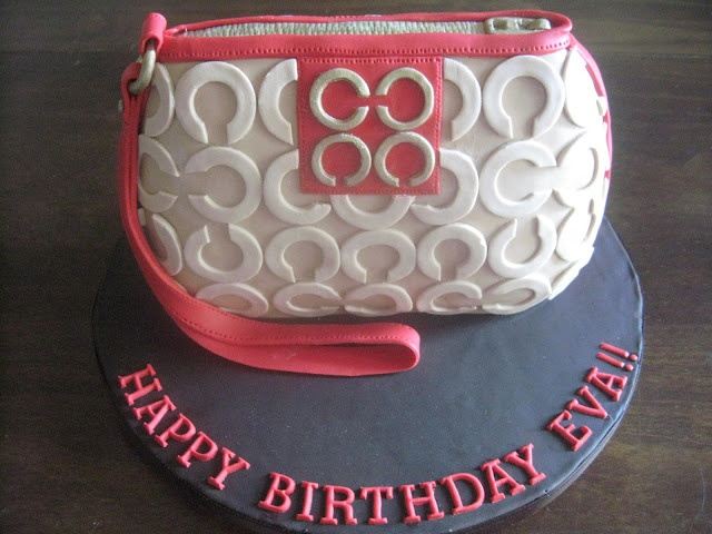 OMG this is totally me Coach Purse Cake