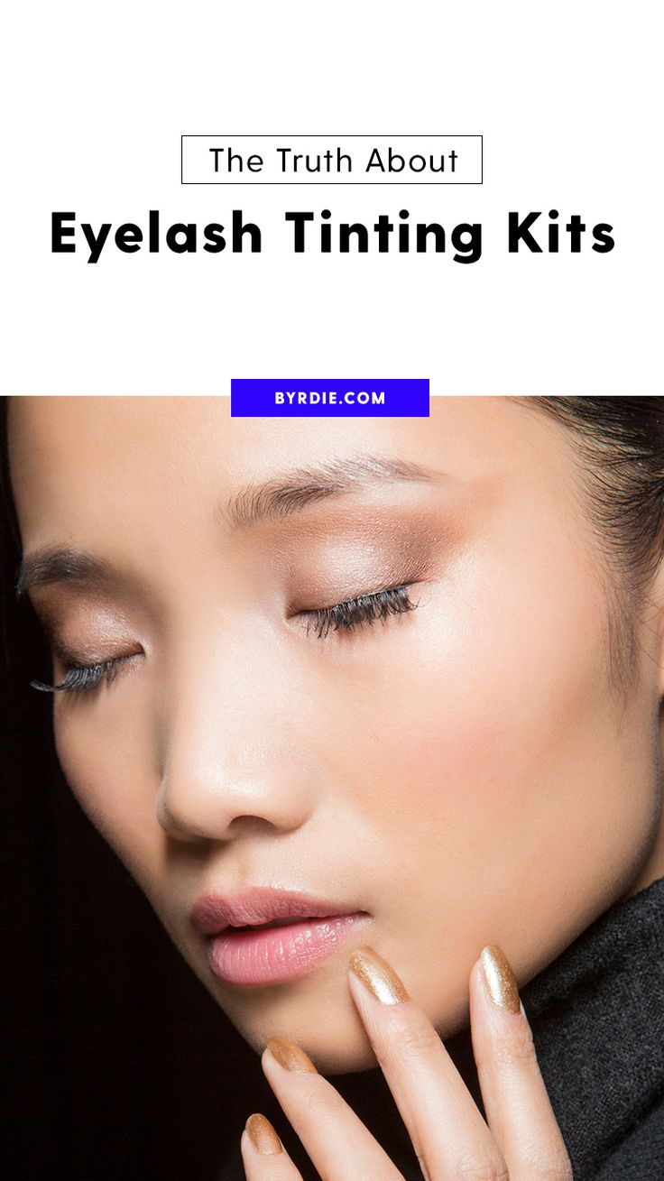 How to tint your own eyelashes
