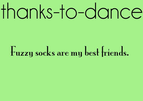 Thanks to dance