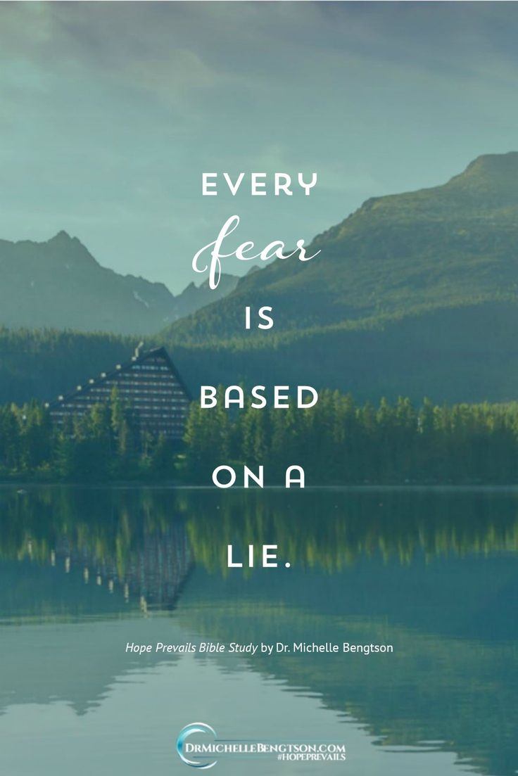 We have a very real enemy, and our fear of him only enhances his power. He would like us to believe that we are slaves to our past, to our mistakes, to our sin, even to our depression. But every fear is based on a lie.  #HopePrevailsBibleStudy #depressionquotes #mentalhealth