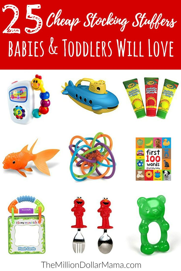 Cheap stocking stuffer ideas for babies and toddlers - my son has a lot of these and he loves them!