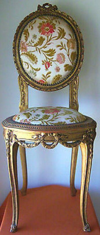 Victorian Gilt Parlor Chair