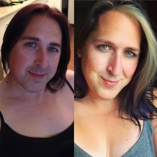 Phoenix Rising, A little comparison photo between now and a year ago… gotta love HRT. (HRT ~ 5/26/15 ~ 1 yr 5 months) #TransitionTuesday