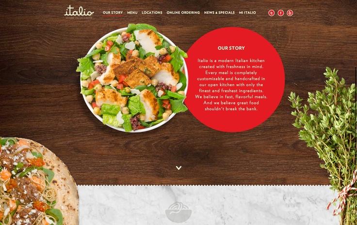 Italio kitchen - delicious restaurant website design with appetizing photos
