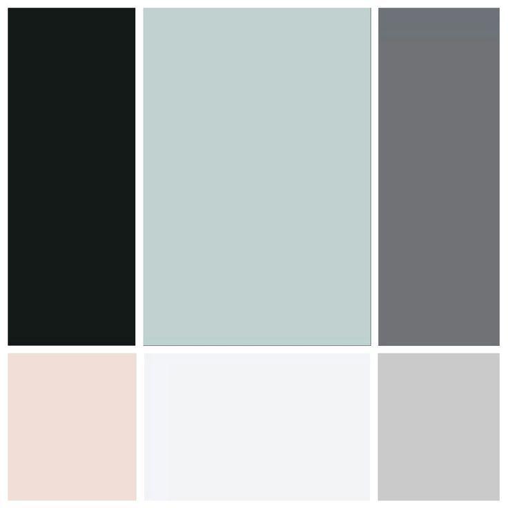 Wohnzimmer Farbplan Hellgraue Blaue Wande Dunkelgraue Couch Und
