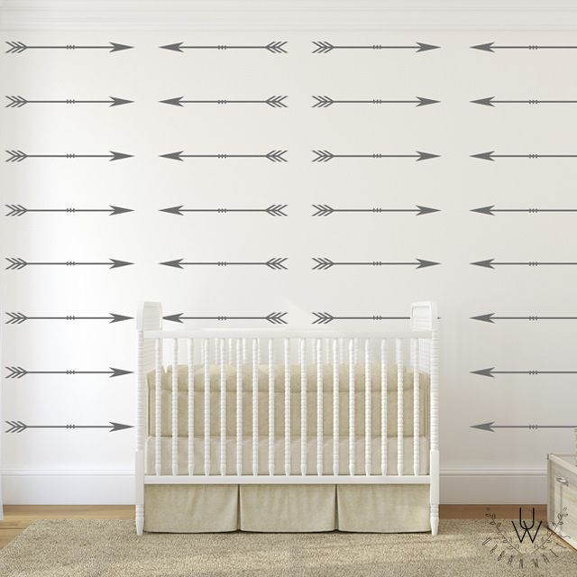 For toddler/older boys room. Arrows - Urban Walls - Designs By Danielle Hardy