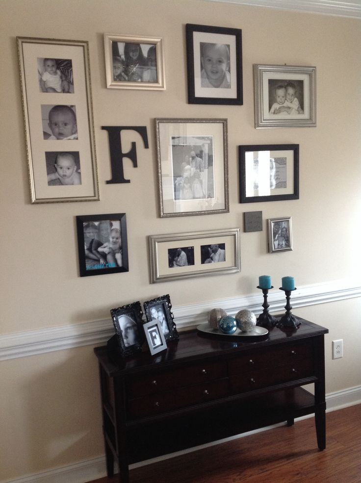 Entryway Wall Gallery   Have Fun And Mix And Match Frames To Welcome  Friends And Family