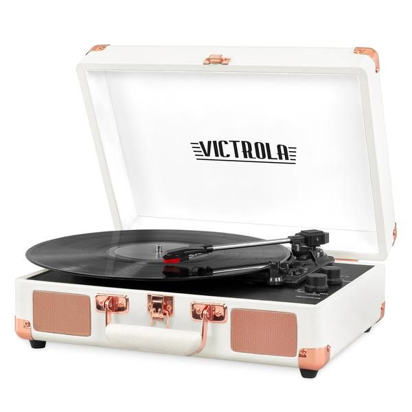 Victrola Bluetooth Suitcase Record Player With 3 Speed Turntable Whit Victrola Com In 2020 Suitcase Record Player Record Player Vintage Record Player