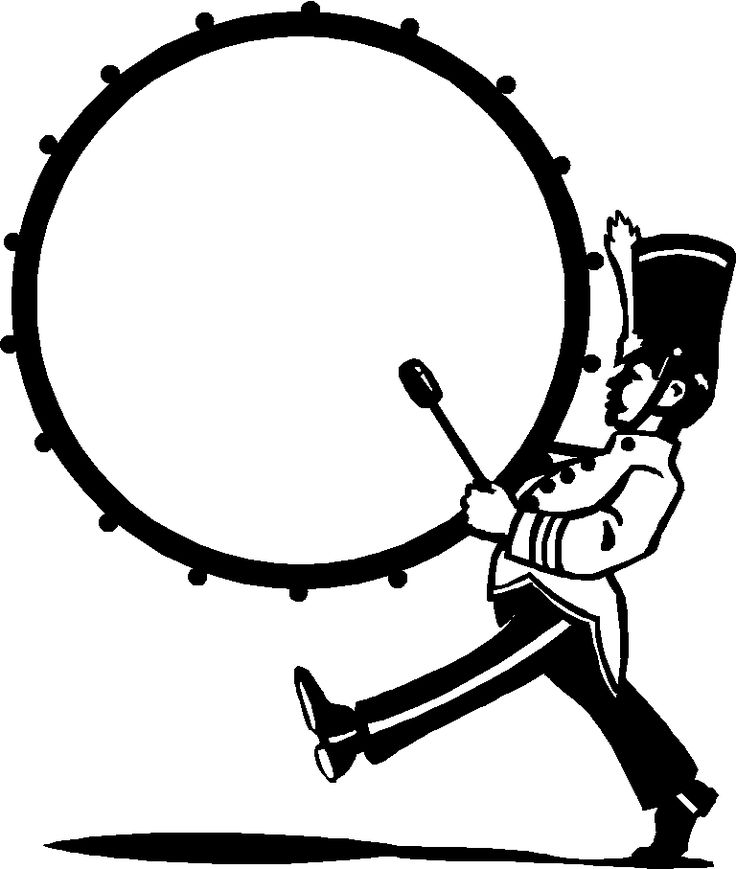 Marching 20bass 20drum 20clip 20art Free Clip Art Drums Art Marching Band