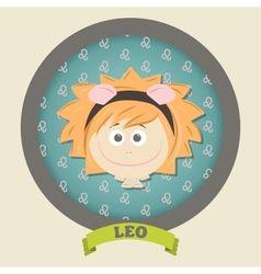 Zodiac signs collection Cute horoscope - LEO