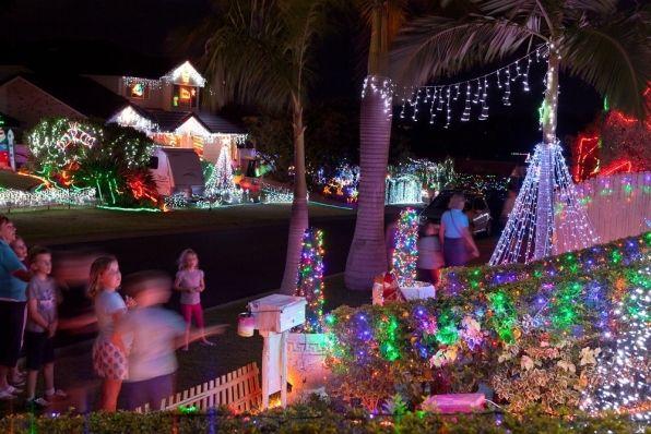 christmas lights on houses - Google Search