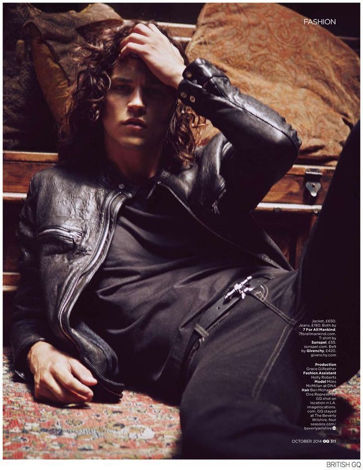 Miles McMillan Channels Jim Morrison for British GQ image Miles McMillan British GQ 007
