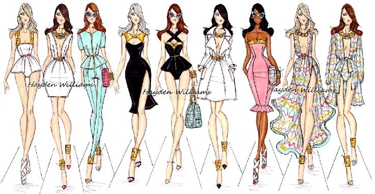 Fashion illustrator Hayden Williams