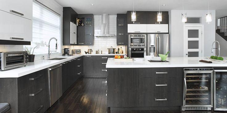 Armoires de cuisine 2 couleurs recherche google for Google decoration cuisine