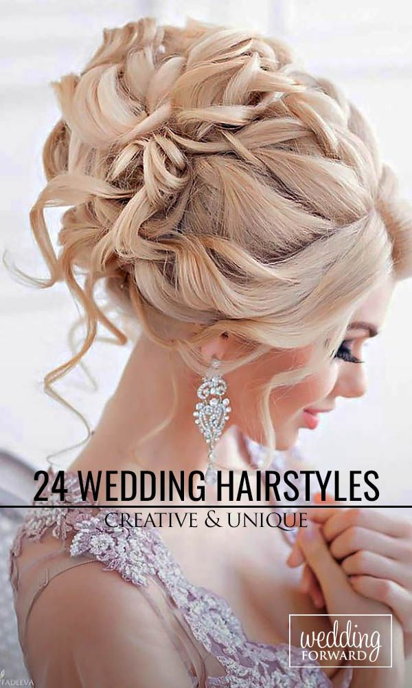 24 Creative & Unique Wedding Hairstyles ❤ From creative hairstyles with romantic, loose curls to formal wedding updos, these unique wedding hairstyles would work great either for your ceremony or for your reception. See more: http://www.weddingforward.com/creative-unique-wedding-hairstyles/ #weddings #hairstyles Photo: Websalon http://www.websalon.su/