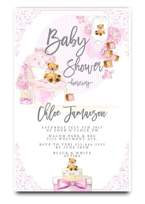 teddy bear, gift boxs, pink teddy bear, vintage, watercolor, baby shower invitation,cheap baby shower invitation, its a girl, cute baby shower invitation, retro, modern,white, girl baby shower invitation, dream paperie printables, cheap and cute, cheap invitations, dream paperie ,cheap invitations, modern invitation, cheap modern baby shower invitation, modern baby shower invitation, modern baby shower invitation, baby shower invitation