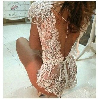 underwear bodysuit white wedding lace laced lingerie                                                                                                                                                                                 More