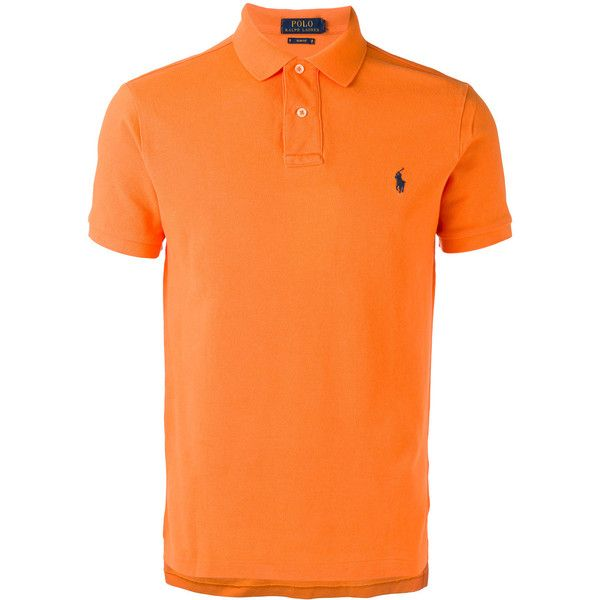 Polo Ralph Lauren classic polo shirt ($115) ❤ liked on Polyvore featuring men's fashion, men's clothing, men's shirts, men's polos, orange, mens polo shirts, mens orange polo shirt, mens cotton shirts, men's cotton polo shirts and polo ralph lauren mens shirts
