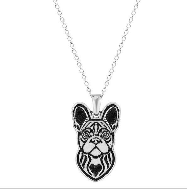 French Bulldog Profile Necklace - If you love your dog, this necklace is perfect way to show it.