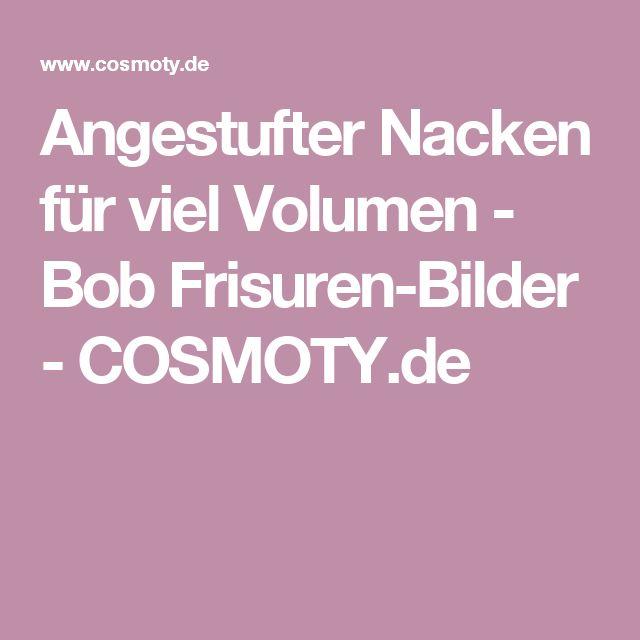 Angestufter Nacken für viel Volumen - Bob Frisuren-Bilder - COSMOTY.de