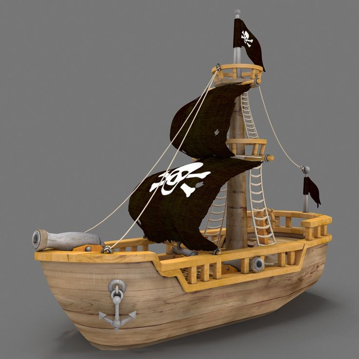 3D fbx ship cartoon pirate