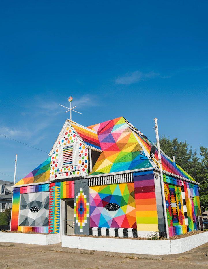 Street Artists Transform City in Arkansas Into Their Own Outdoor Art Gallery - My Modern Met