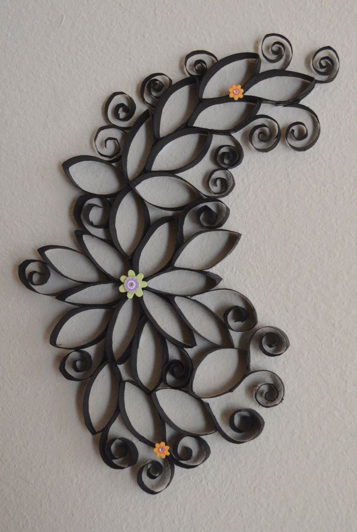 How To: Making Of Cute Wall Art Using Paper Rolls..