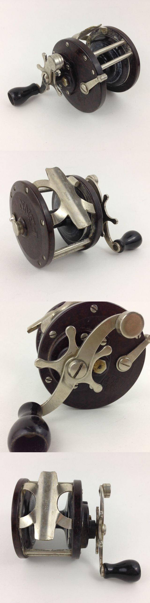 Other Vintage Fishing Reels 11143: Vintage Penn Fishing Reel No.85 Used Working 85 Bakelite Wooden Handle BUY IT NOW ONLY: $44.95