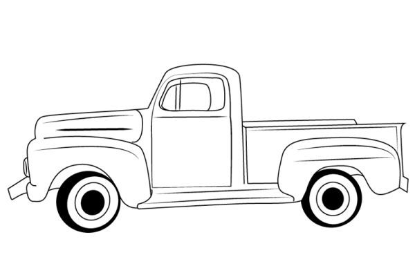 Pickup Truck Coloring Pages Free Printable Classic Ford Trucks