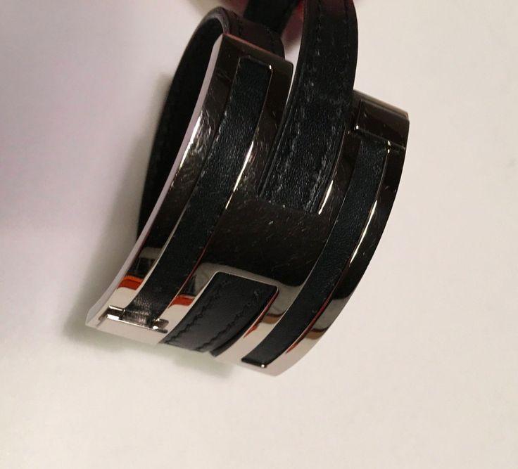 HERMES Pousse Pousse Bracelets Bangle Black Palladium 2003