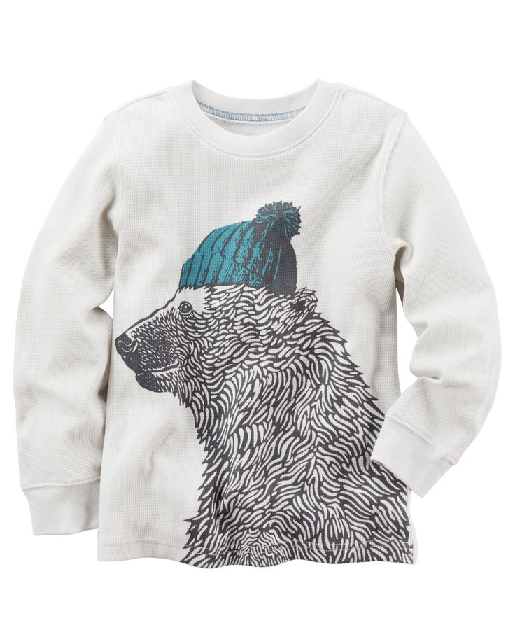 Baby Boy Long-Sleeve Bear Graphic Tee from Carters.com. Shop clothing & accessories from a trusted name in kids, toddlers, and baby clothes.