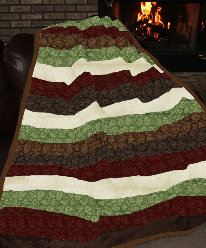 Back In Stock for 2014! - Christmas is marching toward us .. and so is Father Frost! This beautiful Christmas color quilt is made from the softest snuggly cuddle and ultra plush minky fabrics, in rich cinammon, beautiful pine, ivory, dar, and caramel browns, plus the minky is embossed ....